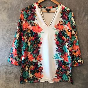 Nicole by Nicole Miller Floral Print Blouse